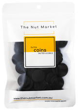 Dutch Licorice Coins in 200g Nut Market packet.