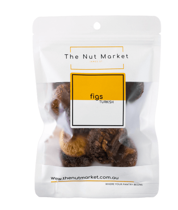 Dried Figs in 200g Nut Market bag.