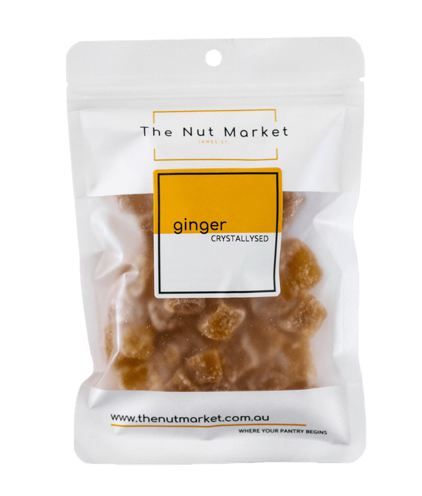 Crystallised Ginger in 200g Nut Market bag.
