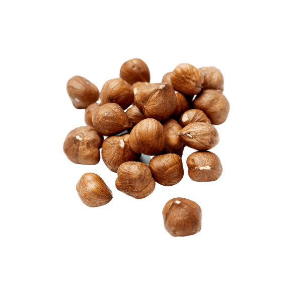 Small pile of Raw Hazelnuts