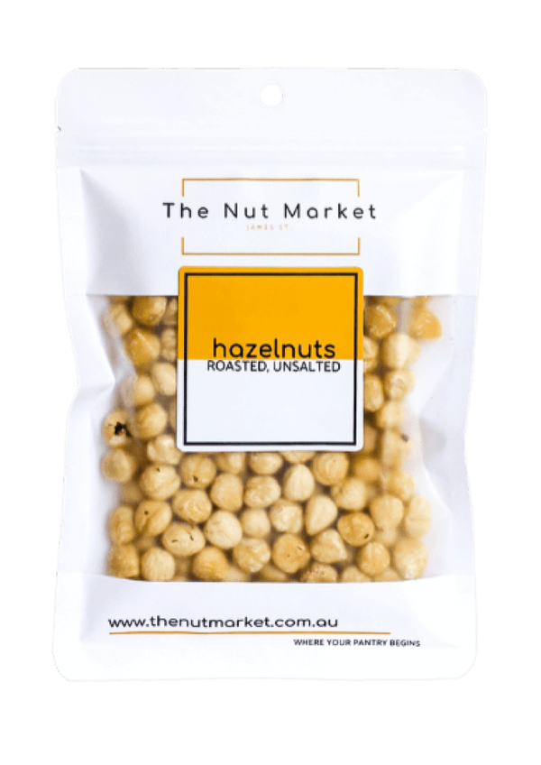 A 150g Nut Market bag of Roasted Hazelnuts.