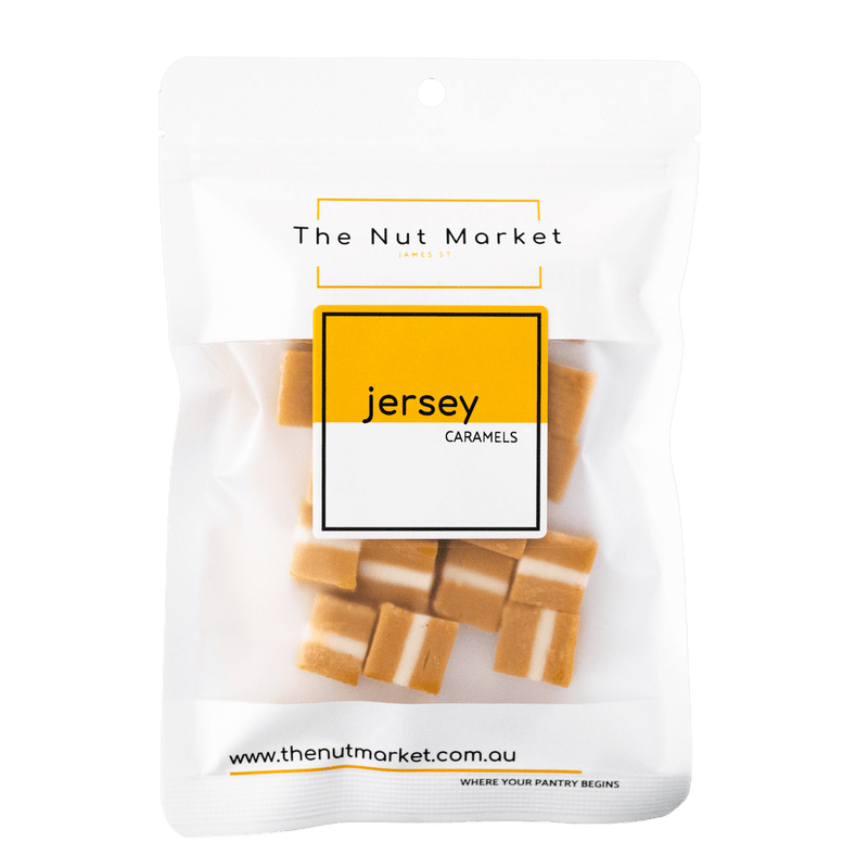 Jersey Caramels in 200g Nut Market packet.
