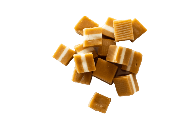 Scattered group of jersey Caramels.