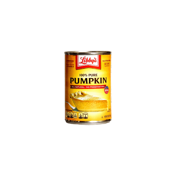 Can of Libby's 100 Pure Pumpkin.