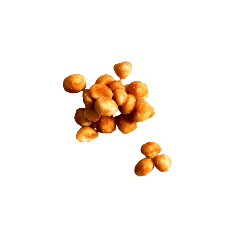 Small pile of Honey Roasted Macadamia nuts.