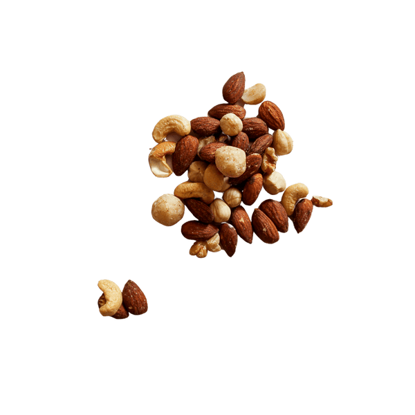 Small pile of Mixed Nuts Roasted Unsalted.