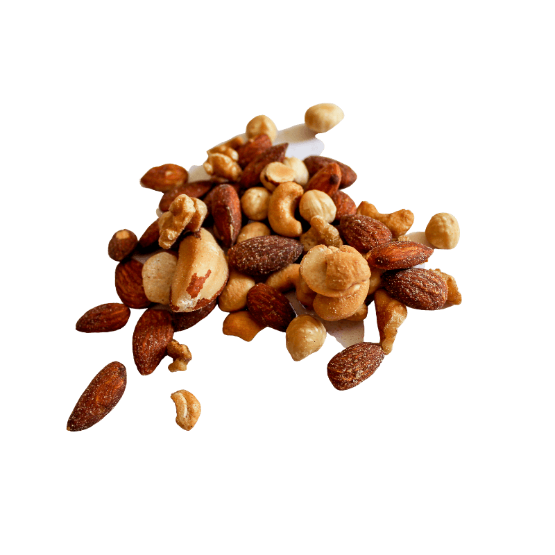 Pile of Mixed Nuts Roasted and Salted.