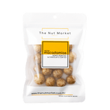 Moon Macadamias in 180g Nut Market Packet.