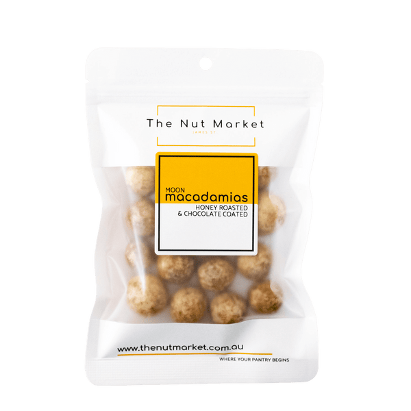 Macadamias Chocolate Honey Roasted - Moon Macas