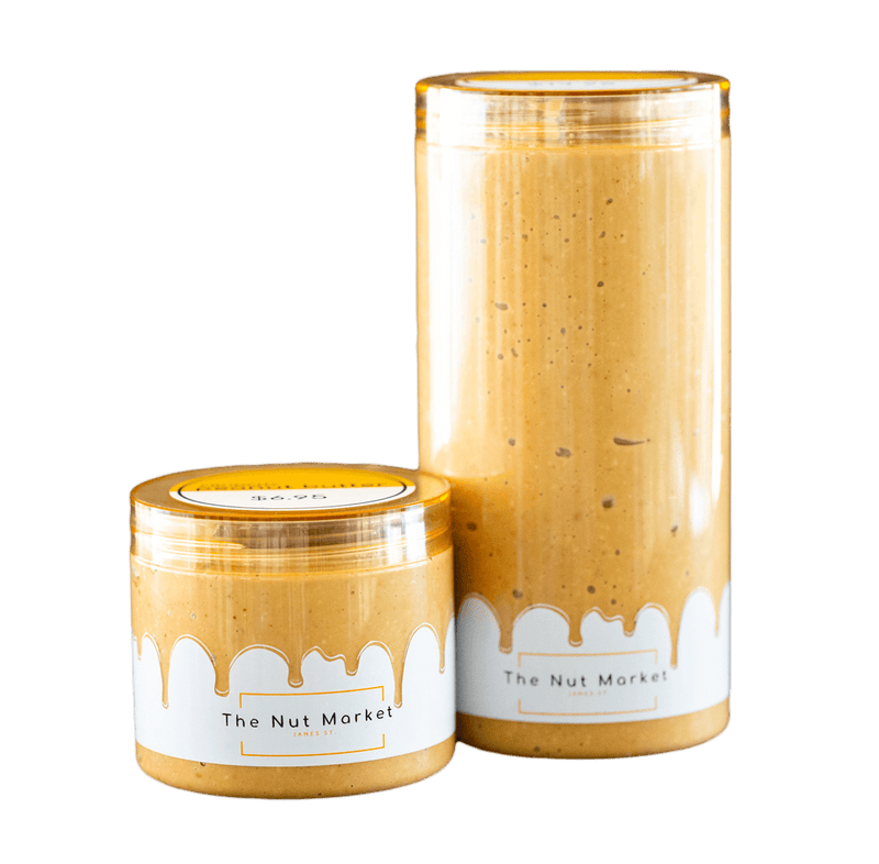 Crunchy Peanut Butter in 300g and 850g Nut Market jars.
