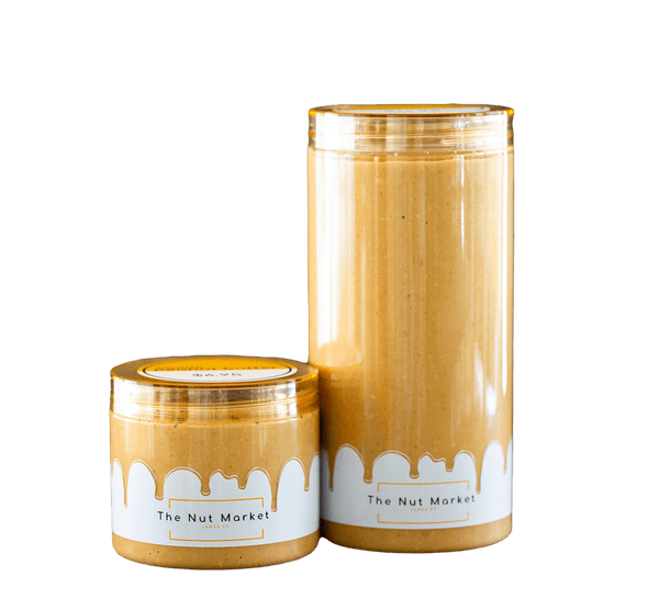 Smooth Peanut Butter in 300g and 850g Nut Market jars.