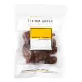 Chocolate Peanut Clusters in 150g Nut Market Packet.