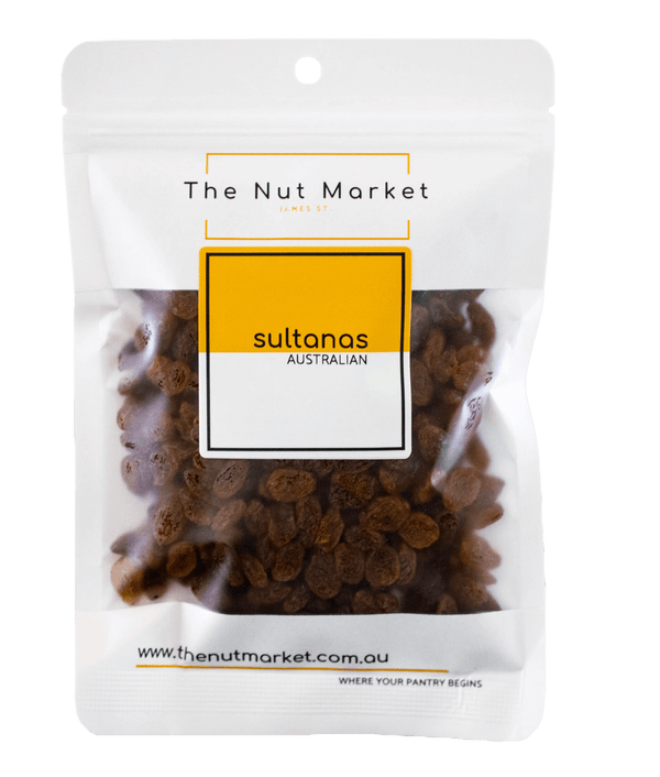 Sultanas in 200g Nut Market bag.