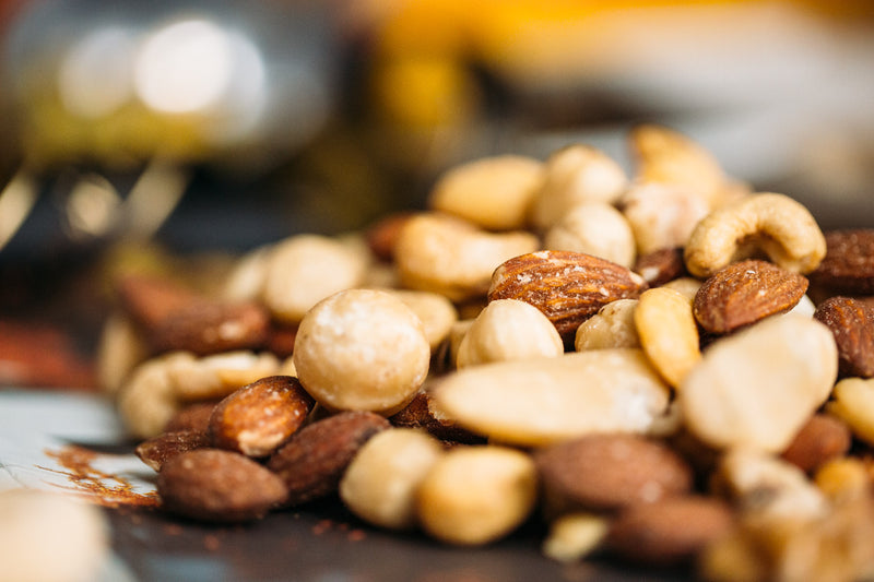 Close up of Mixed Nuts Roasted and Salted.