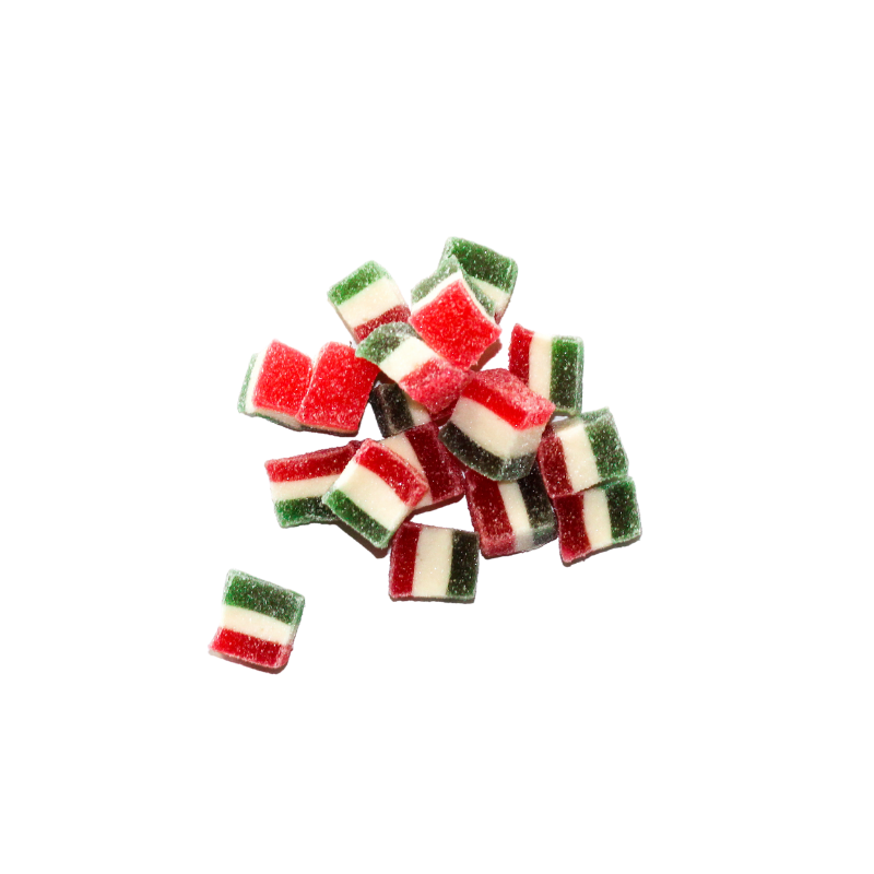 Small pile of Jolly Jellies Christmas Lollies