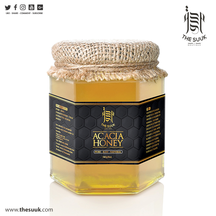 Pure Raw Natural Acacia Honey (340g)