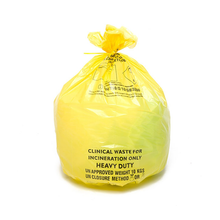 Yellow Medium Duty Clinical Waste Sack, 30 Litres x 50