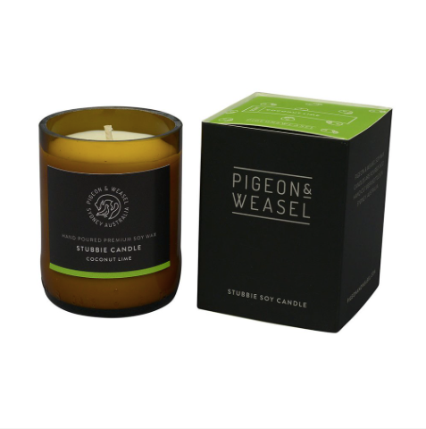 Pigeon and Weasel Coconut Lime Stubbie Candle