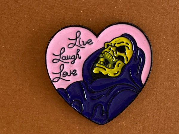 Enamel pin - Live Love Laugh