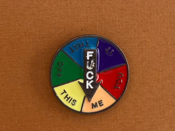 Enamel pin - F@$# wheel