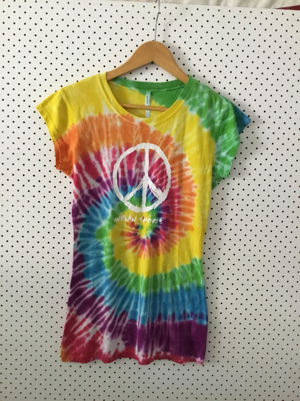 1348 Peace sign tie dye tee