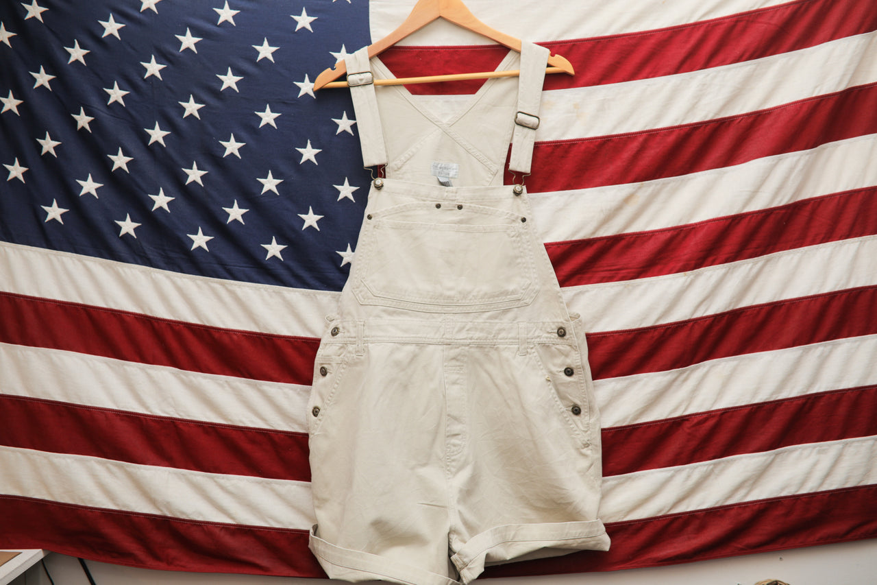 0230 Christopher and Banks overalls - cream - XL