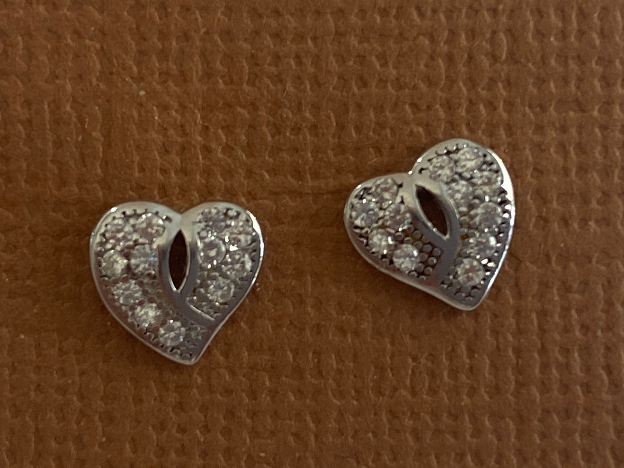 Sterling silver - Heart earrings