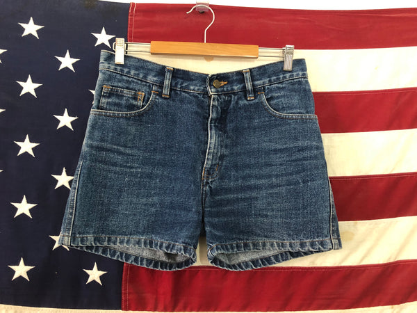 0218 Flag denim shorts
