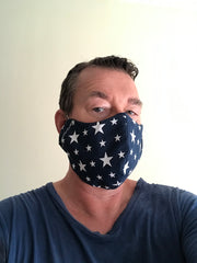 Custom Face Mask Blue Stars