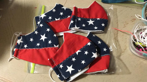 Face Mask USA Flag Design