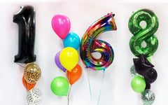 Giant Number Birthday Balloon Bouquets