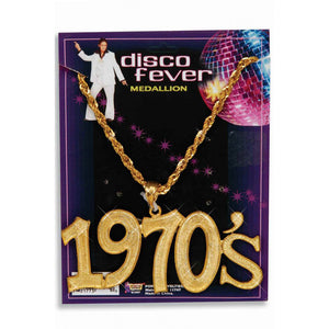 1970's Disco Fever Gold Necklace