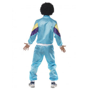 80s Height of Fashion Mens Shell Suit Costume -Blue