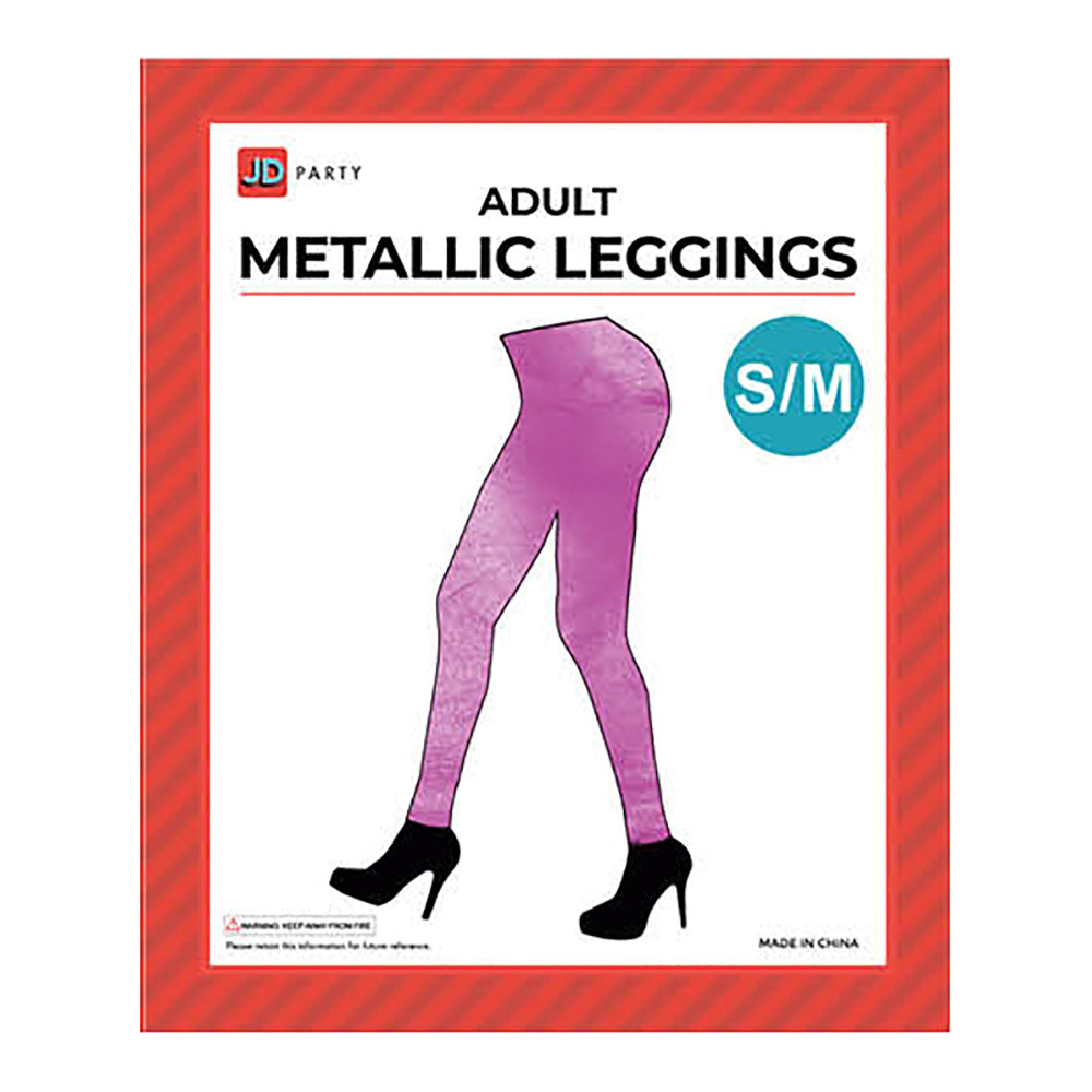Women's Metallic Leggings - Pink