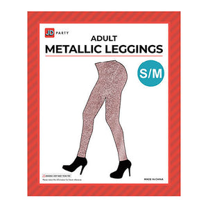 Women's Metallic Leggings - Rose Gold
