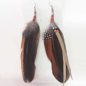 Indian Feathered Earrings