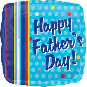 Happy Father's Day Dots & Stripes Balloon