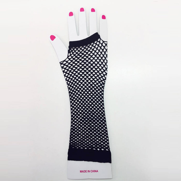 Black Fishnet Gloves (Long)