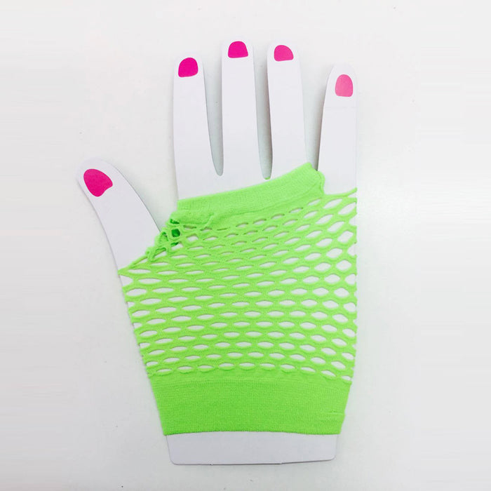 Green Fishnet Gloves (Short)