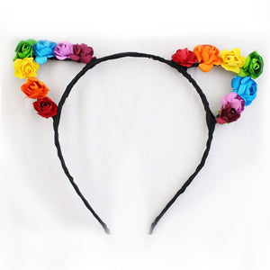 Flower Ears Headband