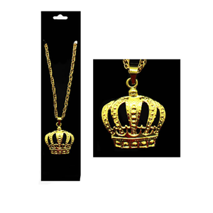 Gold Crown Necklace