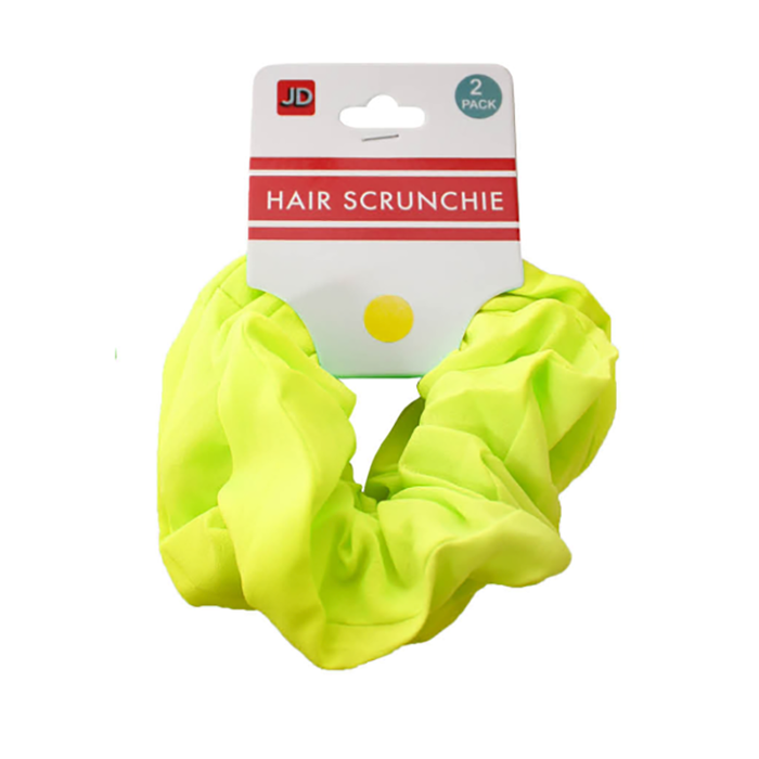 Hair Scrunchie - Fluro Yellow