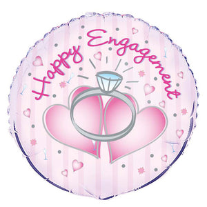 Happy Engagement Round Foil Balloon