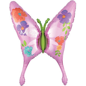 Supershape Happy Mother's Day Butterfly Balloon