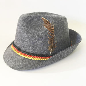 German Oktoberfest Fedora Red Trim Hat