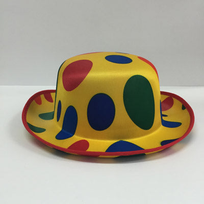 Spotted Clown Bowler Hat