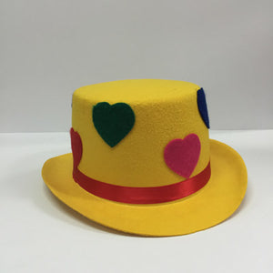 Yellow Clown Top Hat