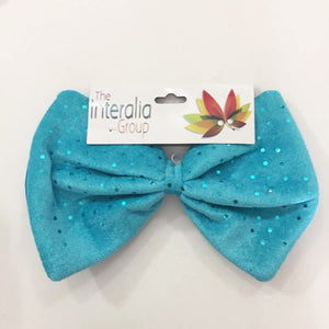 Jumbo light blue bow tie