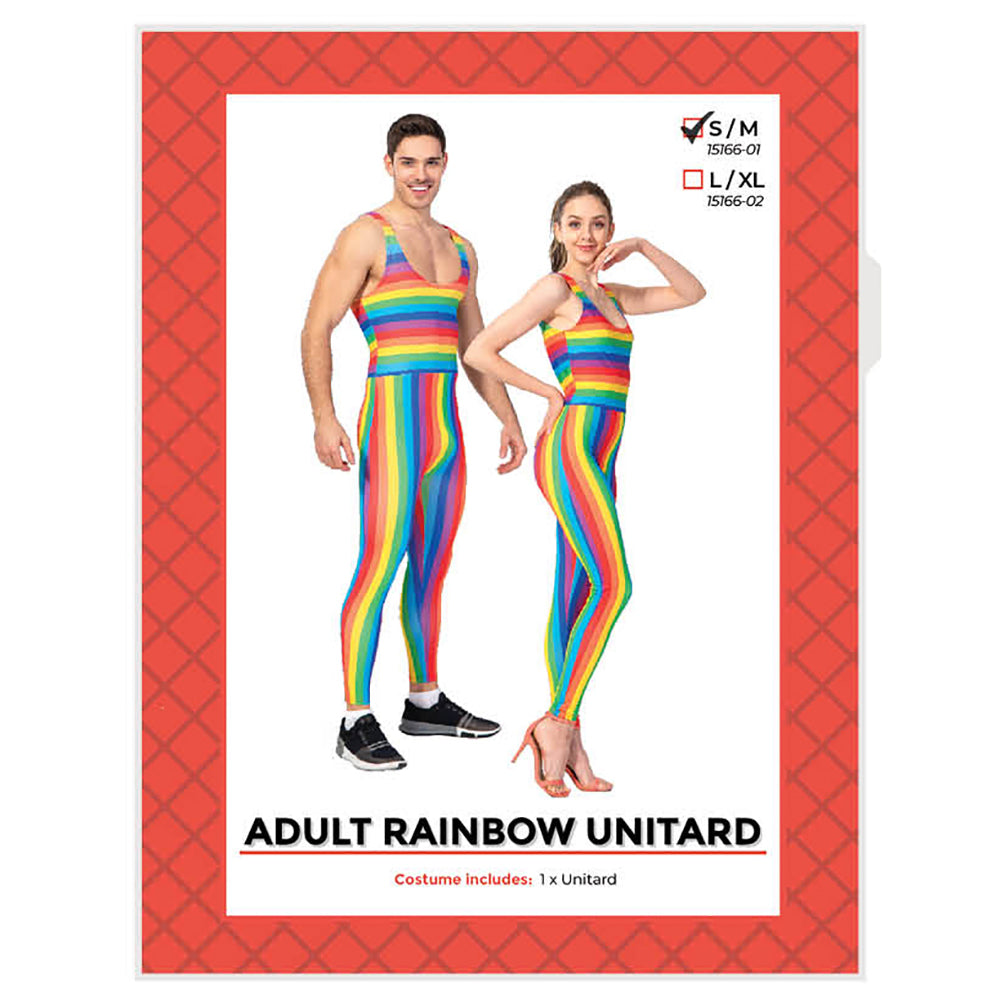 Rainbow Stripe Unitard