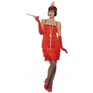 Short Red Flapper Costume